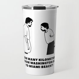 How many kilometers from Washington DC to Miami Beach Travel Mug