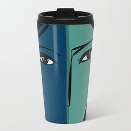Portrait of a girl in red Travel Mug