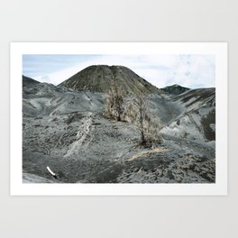 Arid landscape surrounding the active volcano on Mount Bromo, Tengger Semeru, East Java, Indonesia Art Print