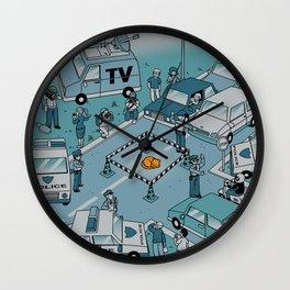 Fluffy Emergency Wall Clock