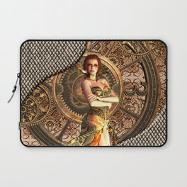 Steampunk, beautiful steam women Laptop Sleeve