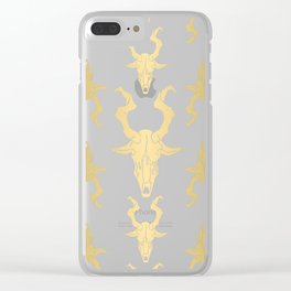 """Goat Skull Design- Gold - Mr.Phillip """" The Witch"""" / Chilling Adventures of Sabrina / Halloween Clear iPhone Case"""