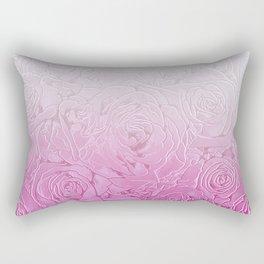 roses and pink gradient Rectangular Pillow