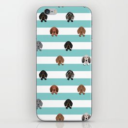 dachshund stripes dog breed doxie gifts iPhone Skin