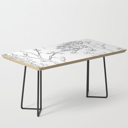Color Your Own Chinoiserie Panels 1-2 Contour Lines - Casart Scenoiserie Collection Coffee Table