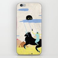 girl power iPhone & iPod Skins featuring GIRL POWER by Alba Blázquez