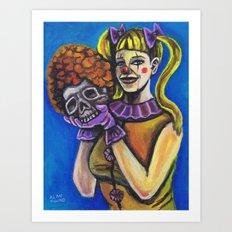 Yorrick was a Bozo Art Print