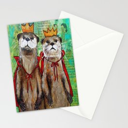 Royal Otters Stationery Cards