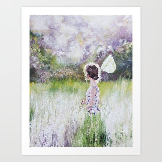 Summer walk Art Print