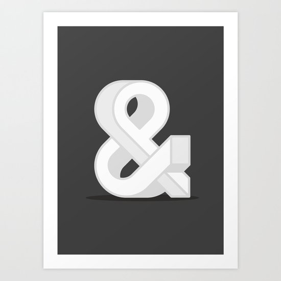 Grayscaled Ampersand Art Print
