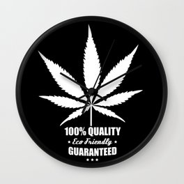 Cannabis - 100% Quality Guaranteed - Eco Friendly - Retro label Wall Clock