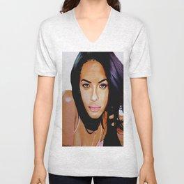 Aaliyah Dana Haughton Unisex V-Neck