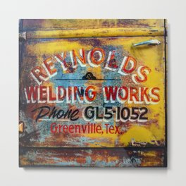 Ford Truck Detail (Reynolds Welding Works - Greenville, Tex.) Metal Print