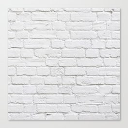 White Brick Wall Canvas Print