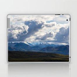 Denali peaking through the clouds Laptop & iPad Skin