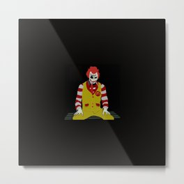 HEATH LEDGER JOKER AS RONALD MCdonalds Metal Print