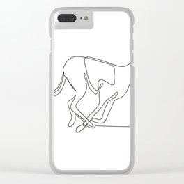 Greyhound Racing Continuous Line Clear iPhone Case