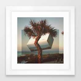 twisted palm Framed Art Print