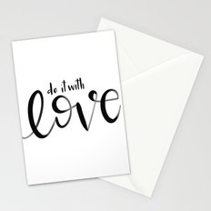 Do it with love Stationery Cards