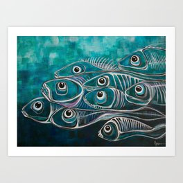 Boney fish Art Print
