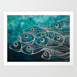 Boney fish Art Print