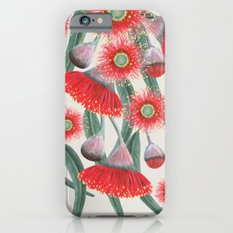 Gum Tree flowers and leaves iPhone Case