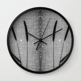 Delicate grasses - light and shadow #4 Wall Clock