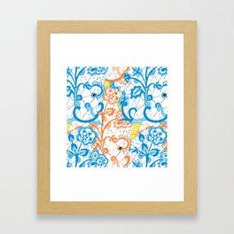 Cobwebbed Flower Lace Pattern Framed Art Print