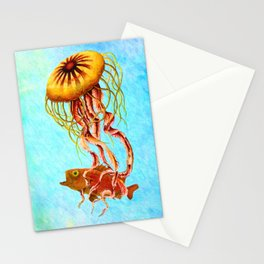 Ocean Jellyfish – Painting – by Liane Wright Stationery Cards