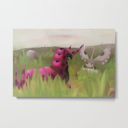 A Scolipede At The Crossroads Metal Print