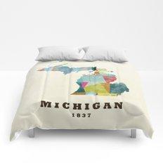 Michigan  state map modern Comforters