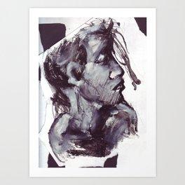 Girl in gouache Art Print