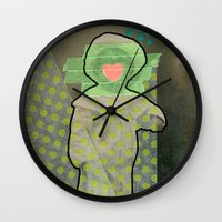 cyclops Wall Clocks featuring Cyclops by Naomi Vona