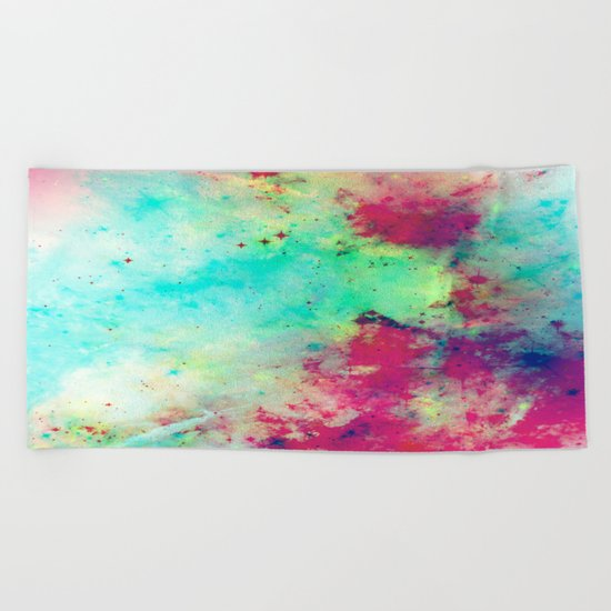 Join The Heavens - Abstract Space Painting Beach Towel