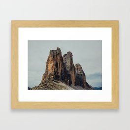 Le tre cime di Lavaredo Framed Art Print