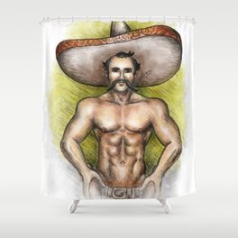 Sexy Mexican Revolutionary Shower Curtain