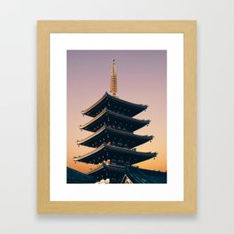 Five-Storied Pagoda at Sensoji Fine Art Print Framed Art Print