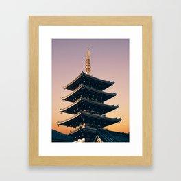 Five-Storied Pagoda at Sensoji Fine Art Print Framed Art Print