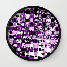 Black Purple marble Design Wall Clock