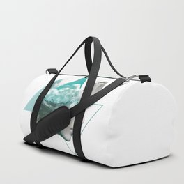 Digital Artwork Mountain Expression Duffle Bag