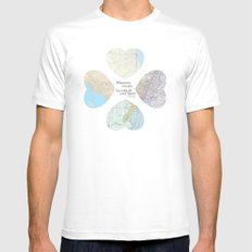 Go With All Your Heart White MEDIUM Mens Fitted Tee