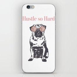 Hustle Pug iPhone Skin