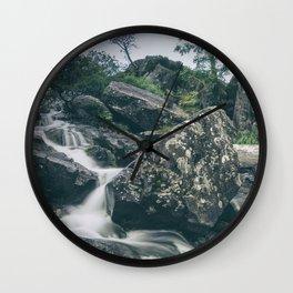 Snowdonia Waterfall II Wall Clock