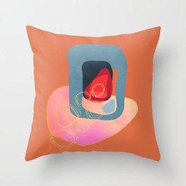 Modern minimal forms 43 Throw Pillow