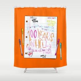 Leslie's Notes (PAR104) Shower Curtain