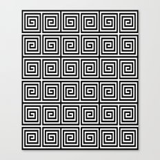Acropolis 1 Black Canvas Print