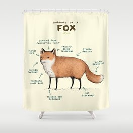 Attractive Anatomy Of A Fox Shower Curtain