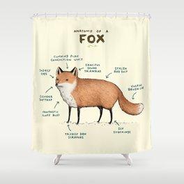 Anatomy of a Fox Shower Curtain