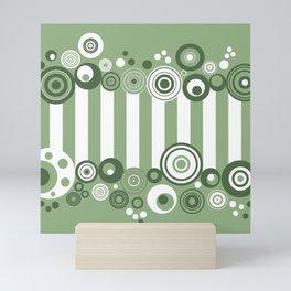 Circles and stripes Mini Art Print
