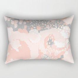 Penelope - abstract millenium pink and grey painting large canvas art decor Rectangular Pillow